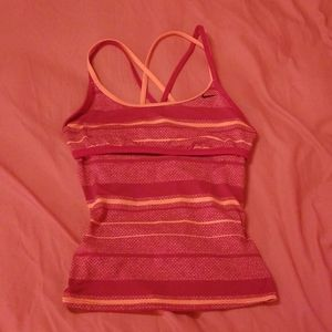 Nike striped workout top